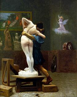 Pigmalión et Galatea. Leon Gérôme en 1809. Encontrado en: http://mariac457.blogspot.com/