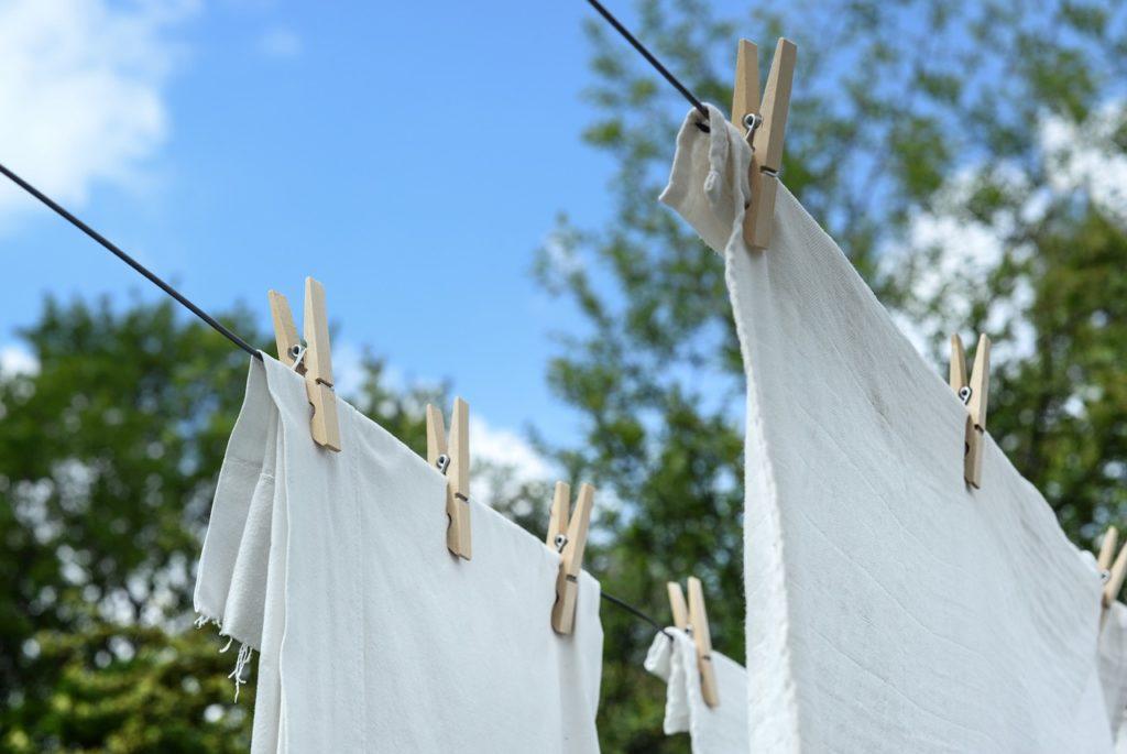 洗濯乾燥物干しロープタオル