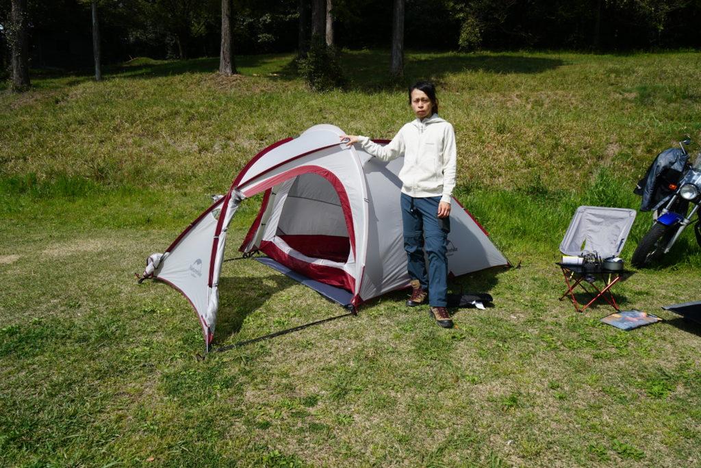 日本一周に必要なモノ テント ネイチャーハイクHiby3 2-3人用テント 広い前室がある