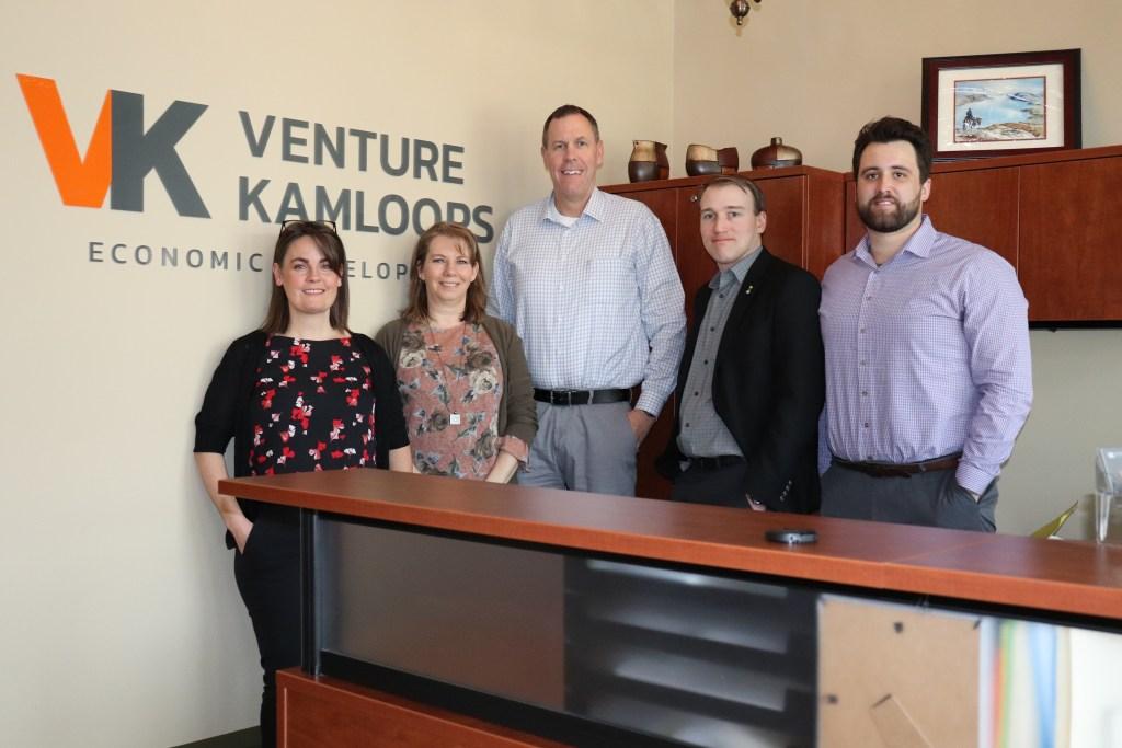 Venture Kamloops team in downtown Kamloops.