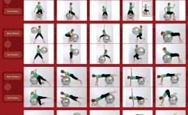 Bài tập với bóng yoga