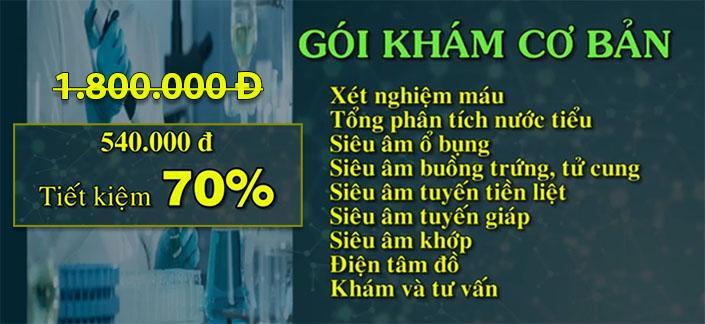 khuyen mai goi kham co ban _ gan Tam Duc