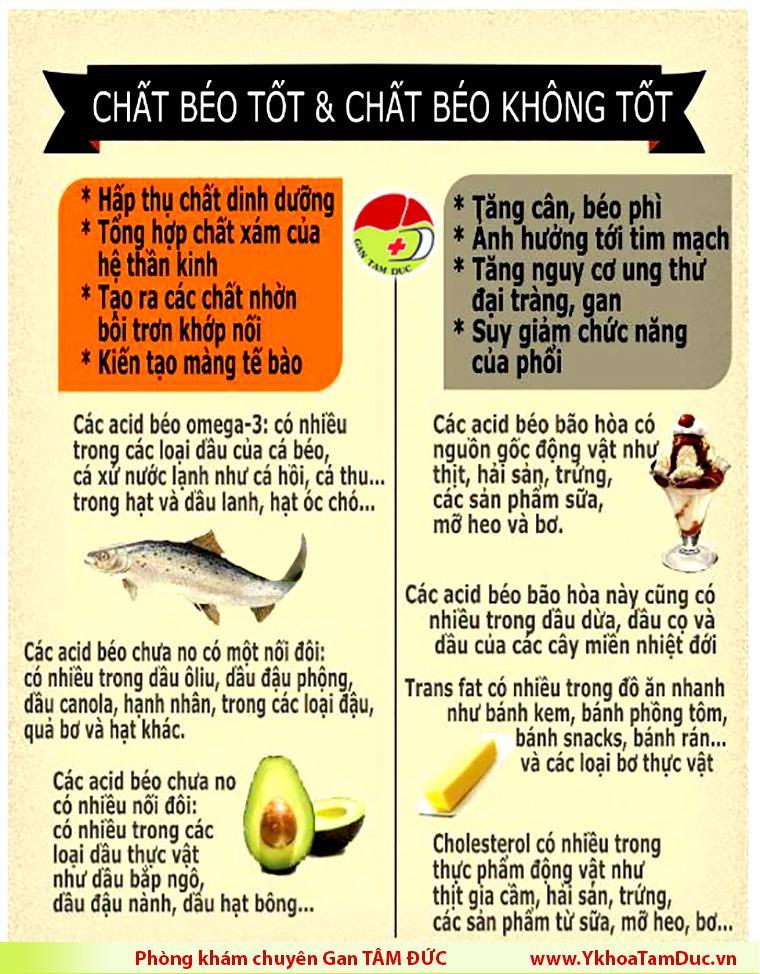 [Infographic] Phân biệt chất béo tốt và chất béo không tốt infographic chat beo tot va chat beo khong tot phong kham gan tam duc