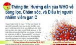 Huong dan sang loc dieu tri cham soc nguoi benh viem gan C _ WHO