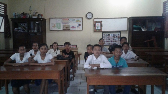 Camp kids start school in Denpasar