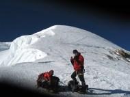 Col de Brenva. Впереди вершина