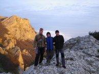 Андрей, Марина, Витя - на вершине