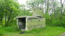 Склады были защищены пулемётными гнёздами, которые встречаются по всему окрестному лесу.