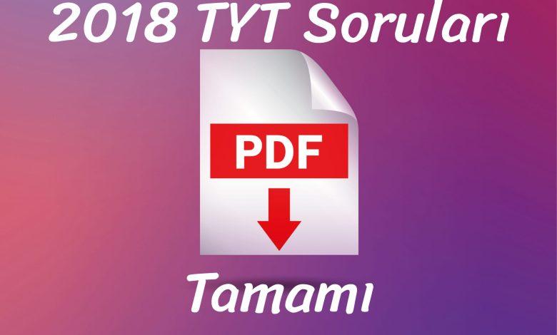 2018 tyt pdf indir
