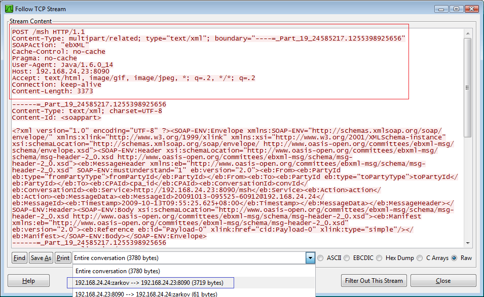 View the HTTP request