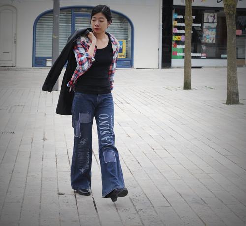 ~ Balade à Troyes, chemise folk Naf Naf ~