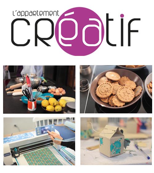 ~ Mon 2e atelier DIY à l'appartement créatif, biscuits et boîtes en carton kraft ~