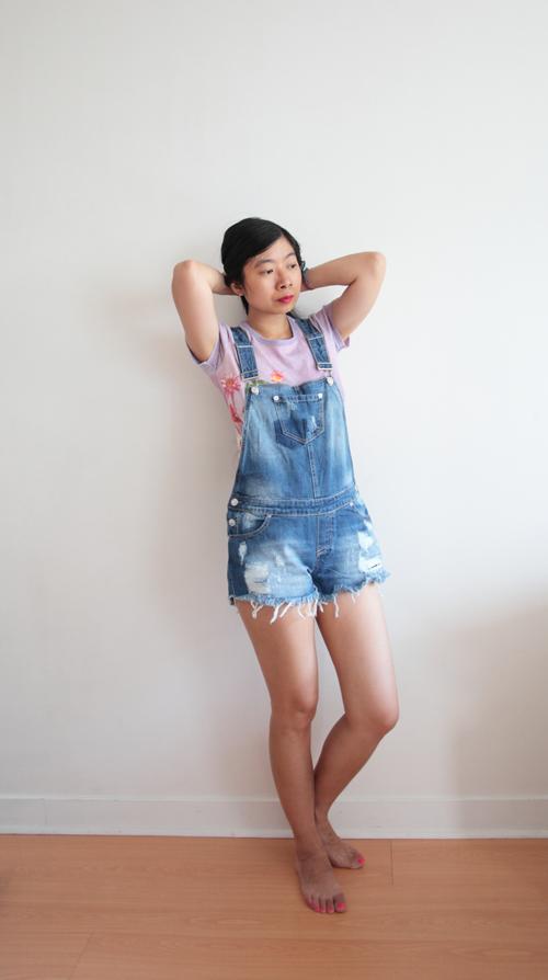 ~ Ma salopette-short en jean ~