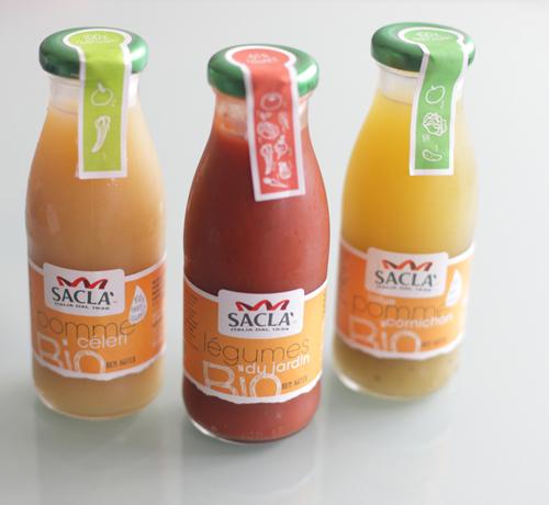 ~ Des jus de fruits/légumes originaux et bio avec Saclà ! ~