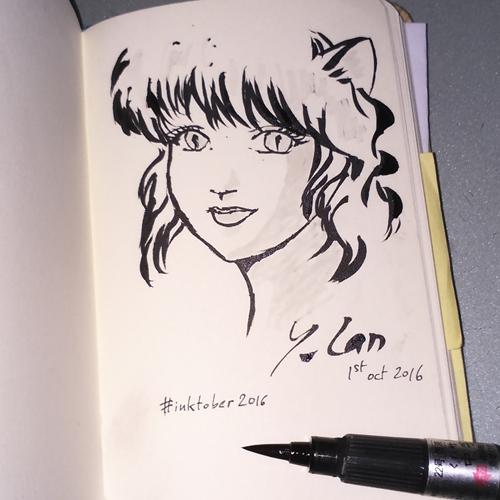 ~ Le récap de mon défi dessin Inktober 2016 ~