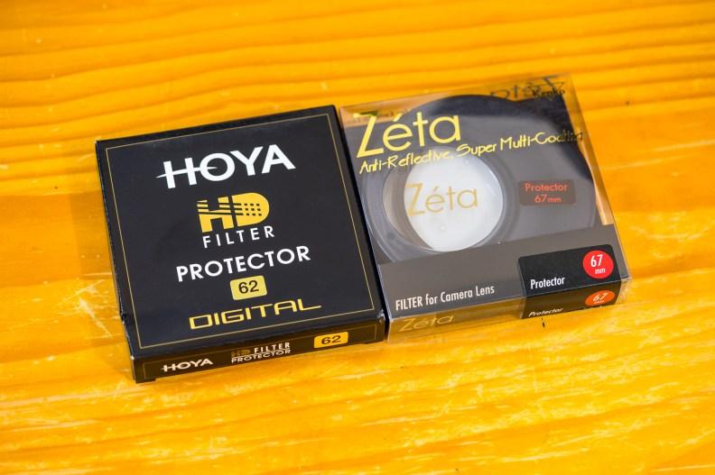 Kenko Zeta Protector and Hoya HD Protector