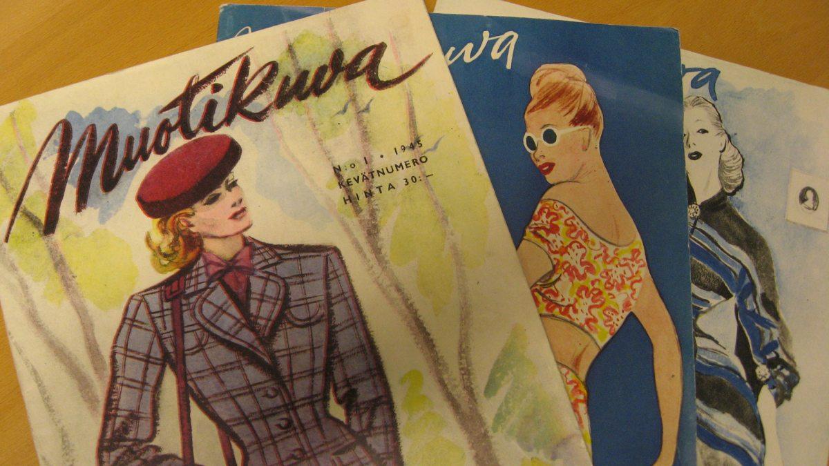 Muotikuva-lehtiä 1940-luvulta