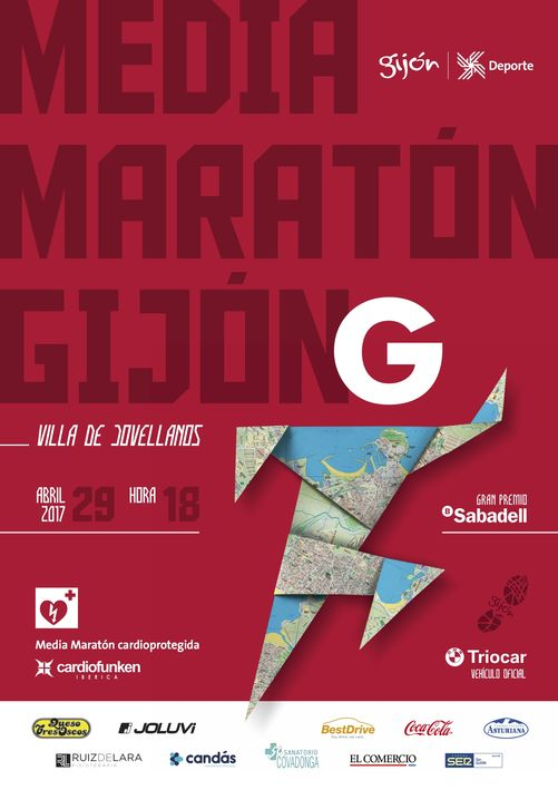 Cartel Media Maratón Gijón 2017