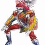 crayon sur papier: 35 x 25 cm