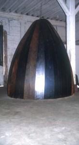 acier, baguette de soudure, 300 x 180 x 180 cm