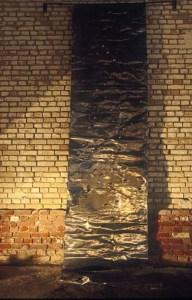 plomb, billes d'acier, 500 x 100 x 30 cm