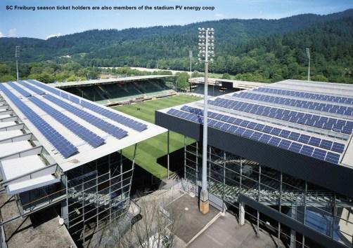 Freiburg stadium solar PV