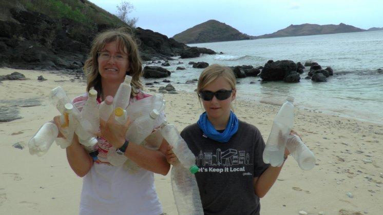 beach cleaning Fiji