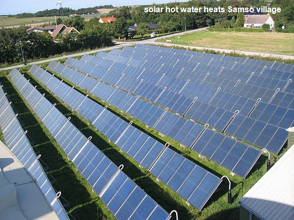Samso solar thermal district heat