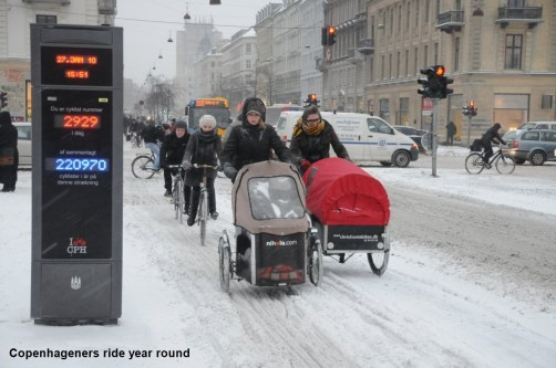 year round cycling Copenhagen