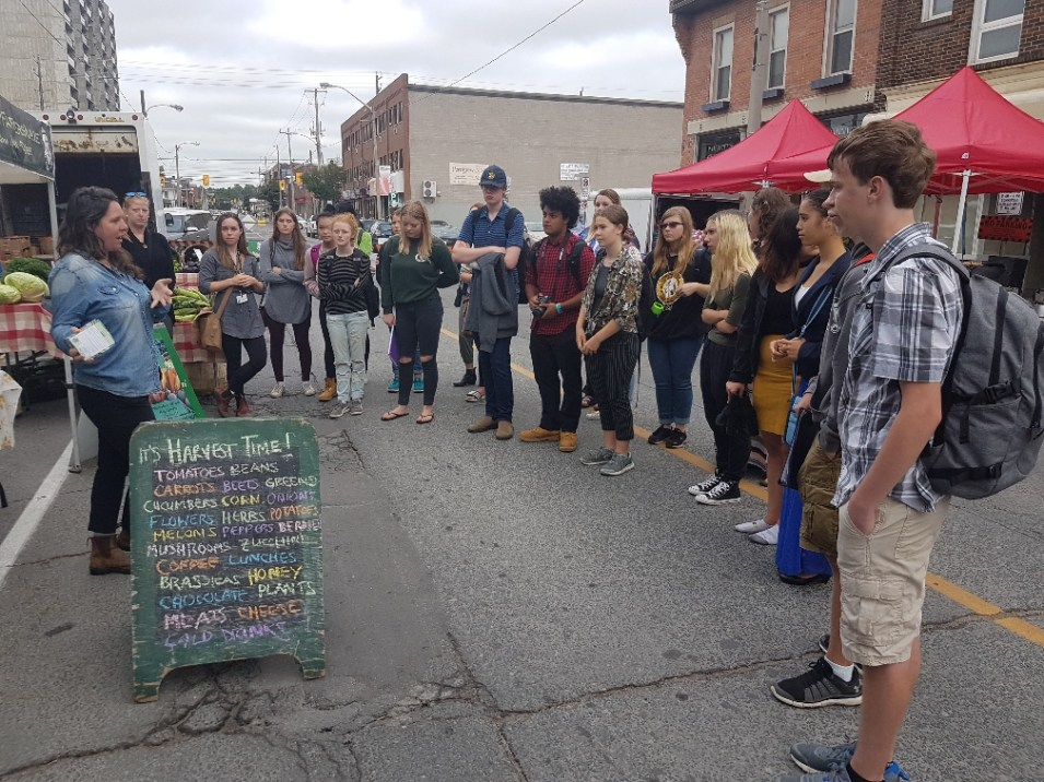 YLS at Ptbo Wed Downtown Farmers Market