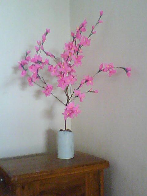 Membuat Bunga Sakura Dari Ranting Pohon Kering  Mauris Blogs
