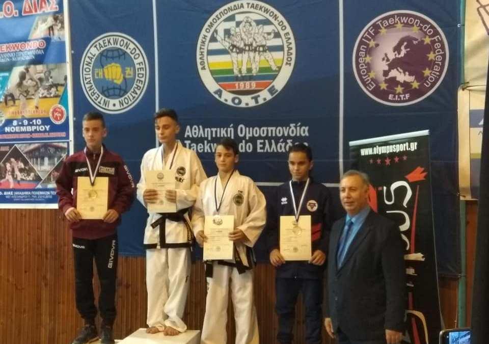 TAEKWON DO: Διακρίσεις στο Πανελλήνιο πρωτάθλημα στις Σέρρες