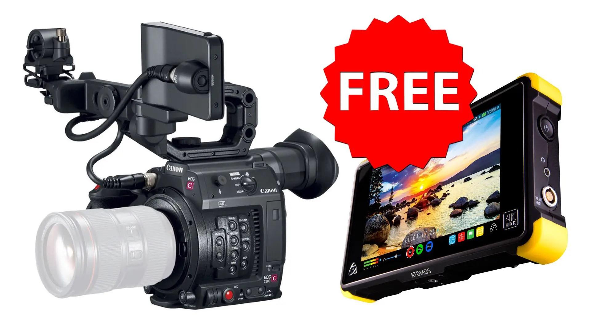 Canon Official Sale: Buy C200 and get Atomos Shogun Flame