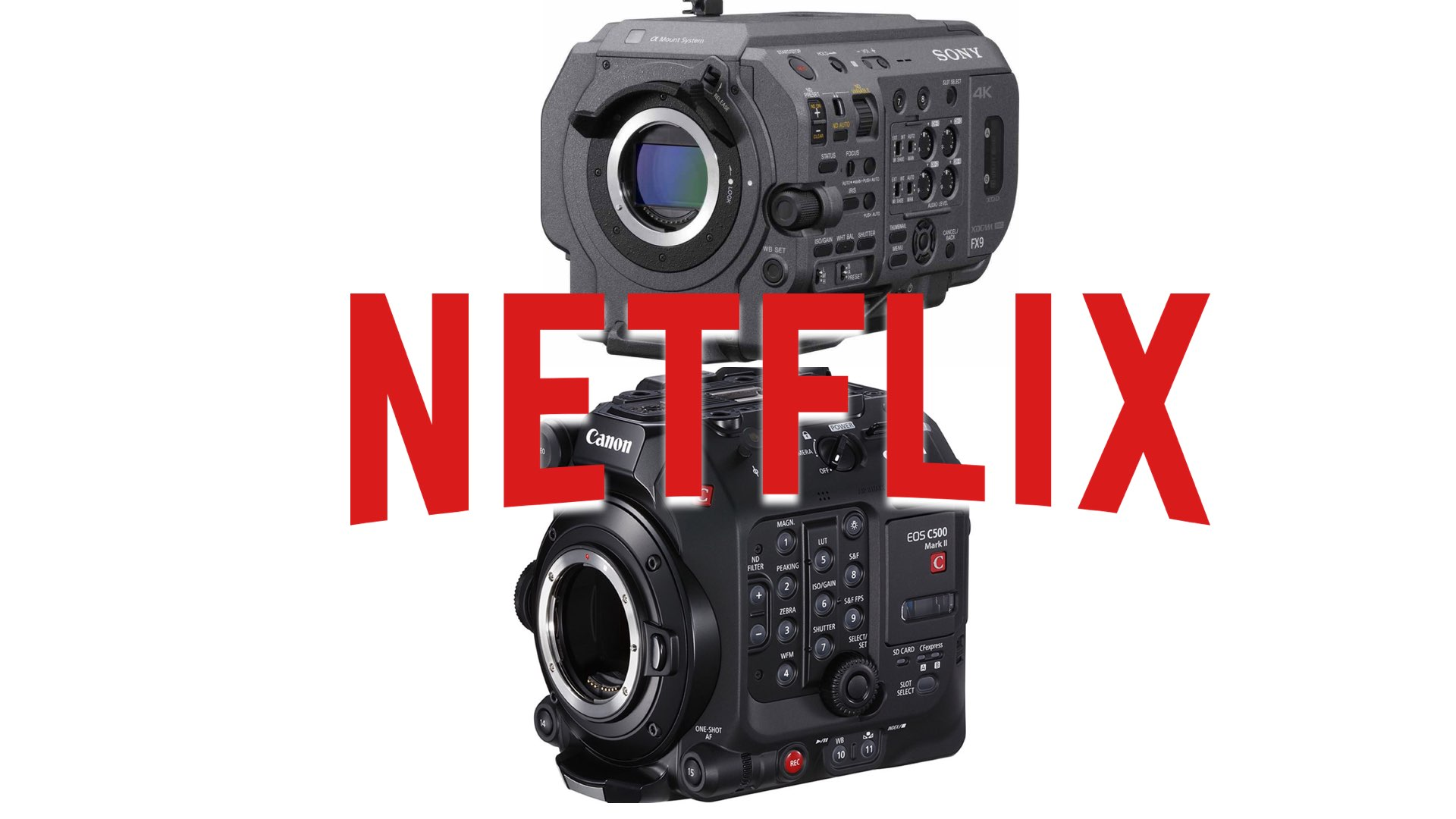 Netflix approves C500 Mark II and Sony FX9