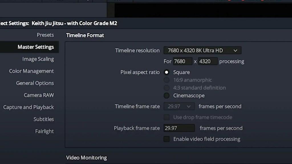 8K RAW workflow on DaVinci Resolve