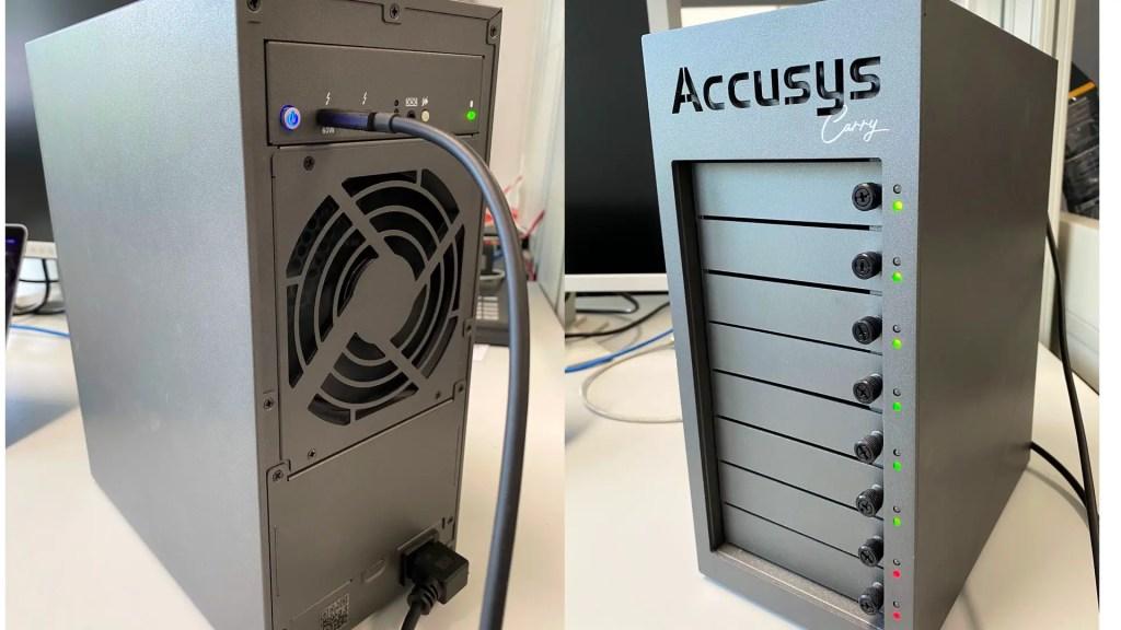 Accusys storage.  Image: Blake Jones