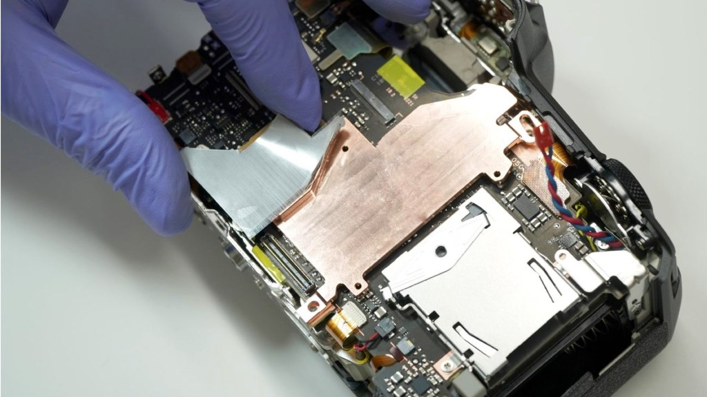 The copper plate installed in the Canon EOS R5. Picture: Kolari Vision