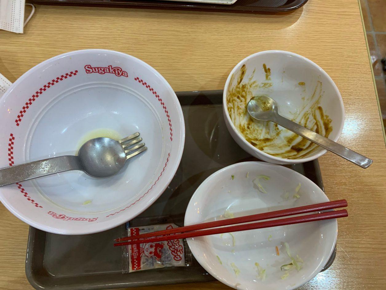 スガキヤ特製ラーメンカレーセット完食
