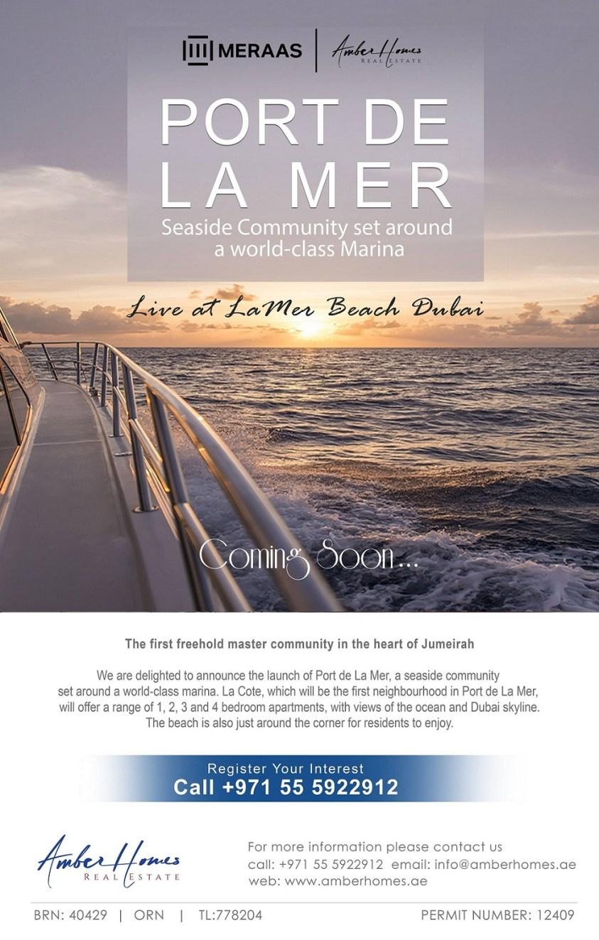 Port De La Mer by Meraas Seaside Community - Dubai