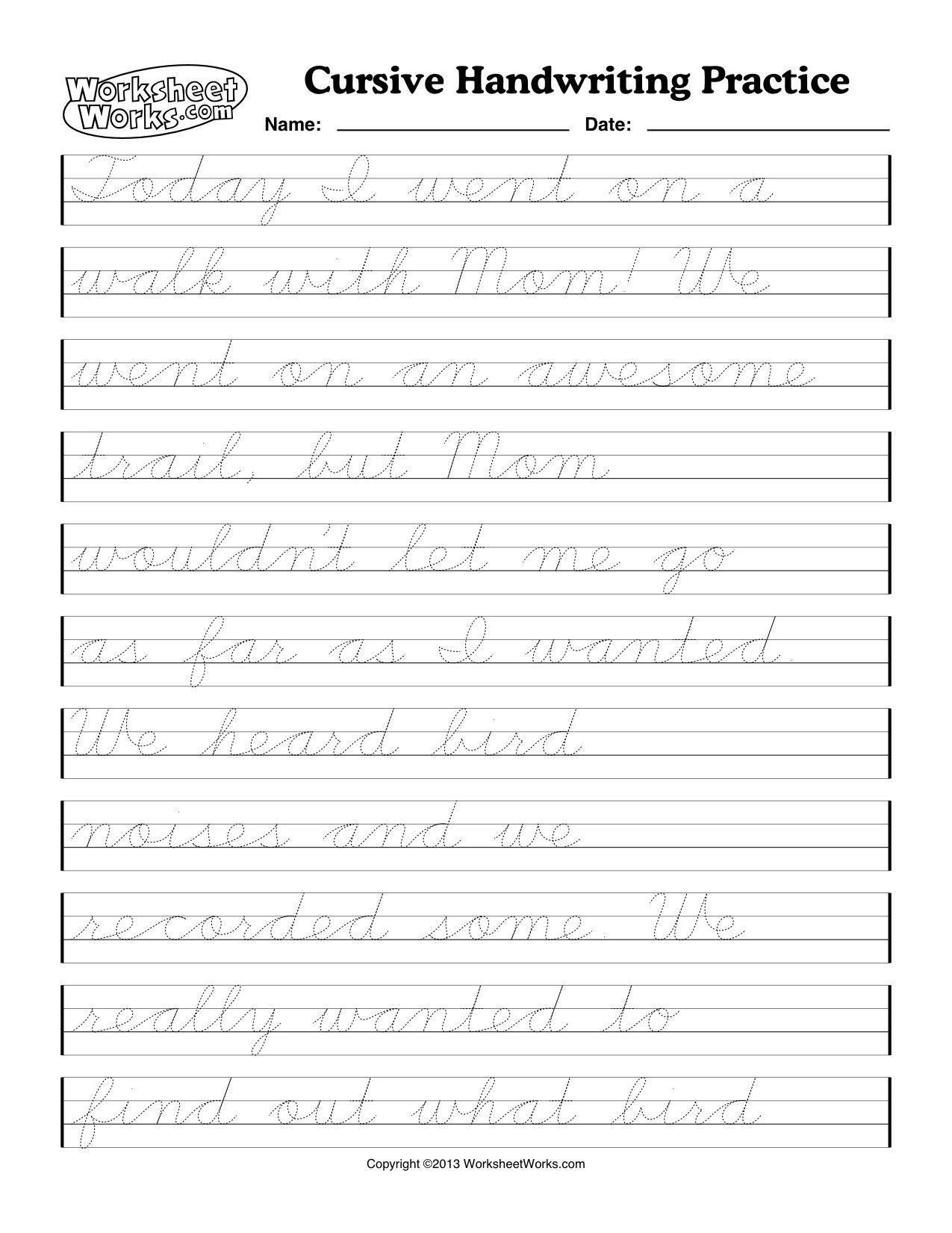 Handwriting Worksheets Letter Worksheets