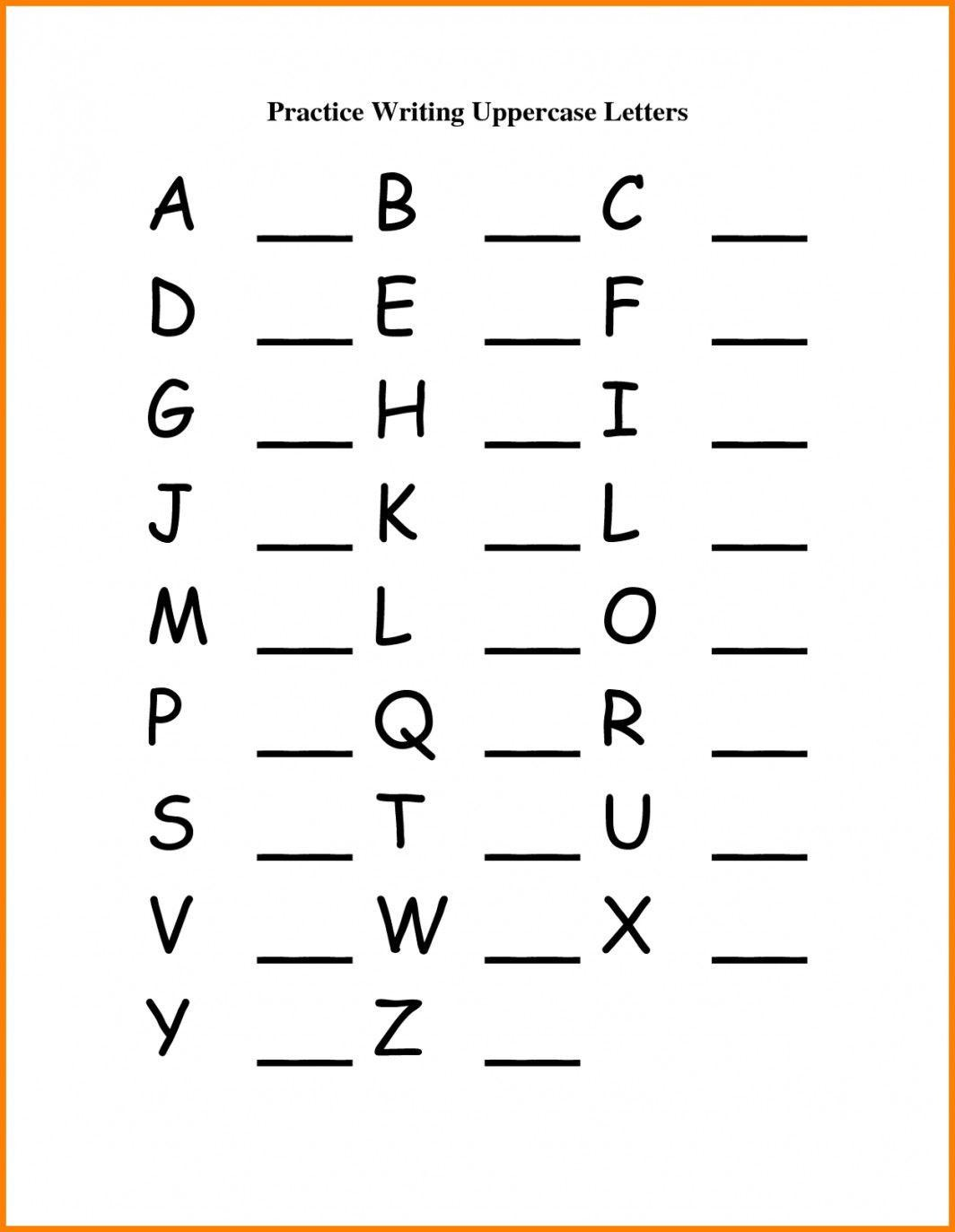 Practise Writing Letters  U2013 Letter Worksheets