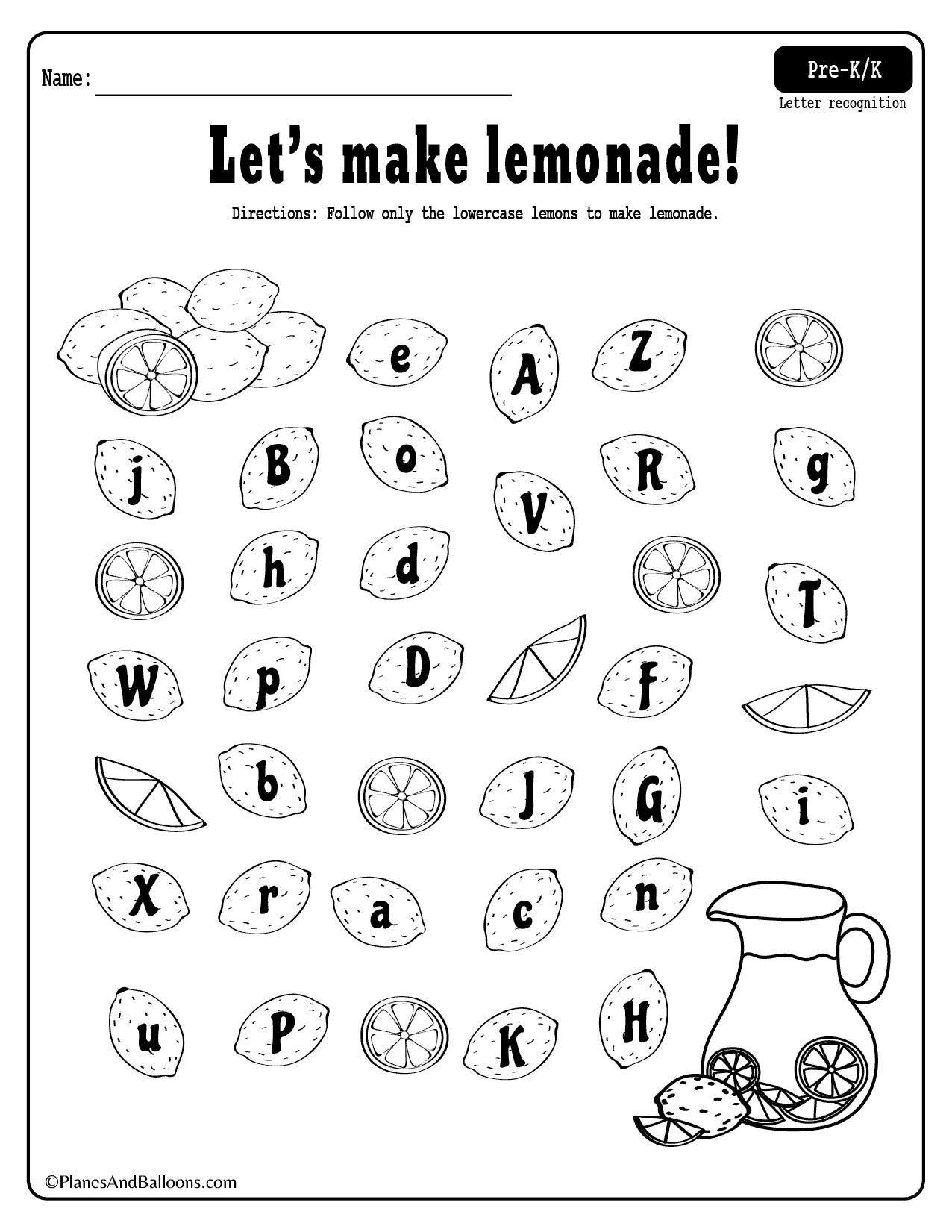 Preschool Letter Recognition Worksheets 2 – Letter Worksheets