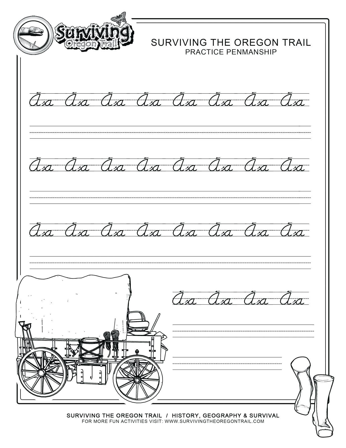 Alphabet Handwriting Worksheets For Adults Letter Worksheets