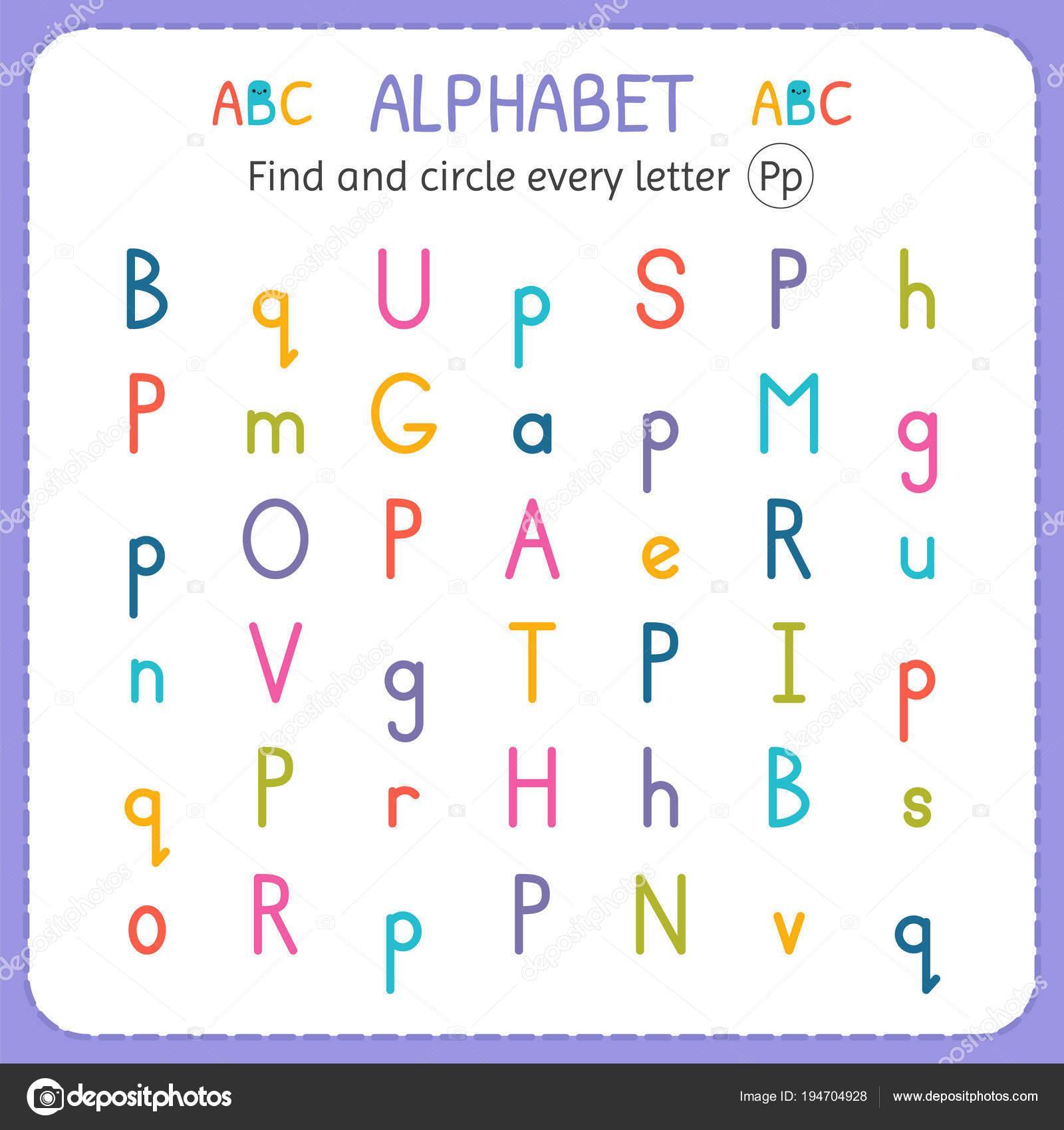 Letter Find Worksheets For Preschoolers 4 Letter Worksheets