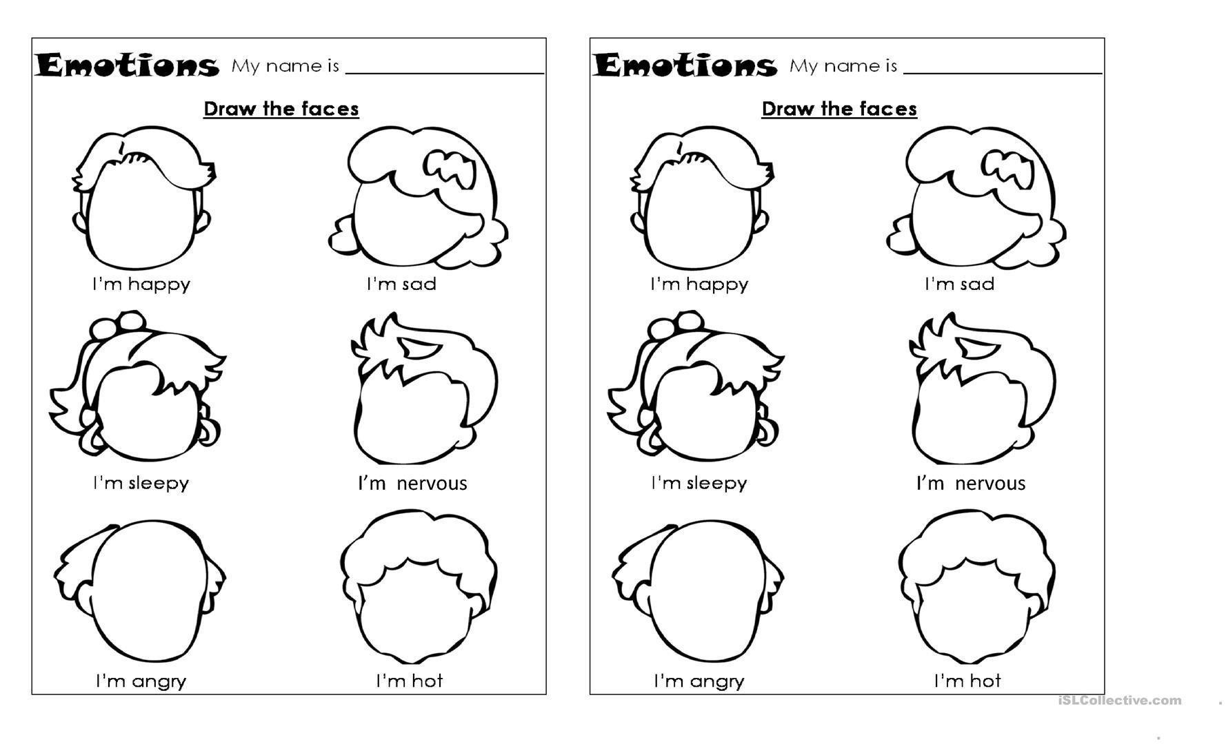 Printable Worksheets Emotions Letter Worksheets