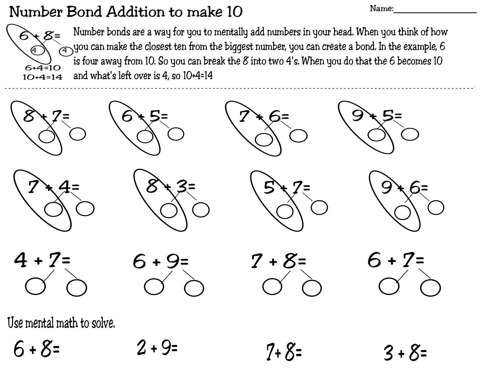 Printable Mental Math Worksheets For Grade 1 – Letter Worksheets [ 1275 x 1651 Pixel ]