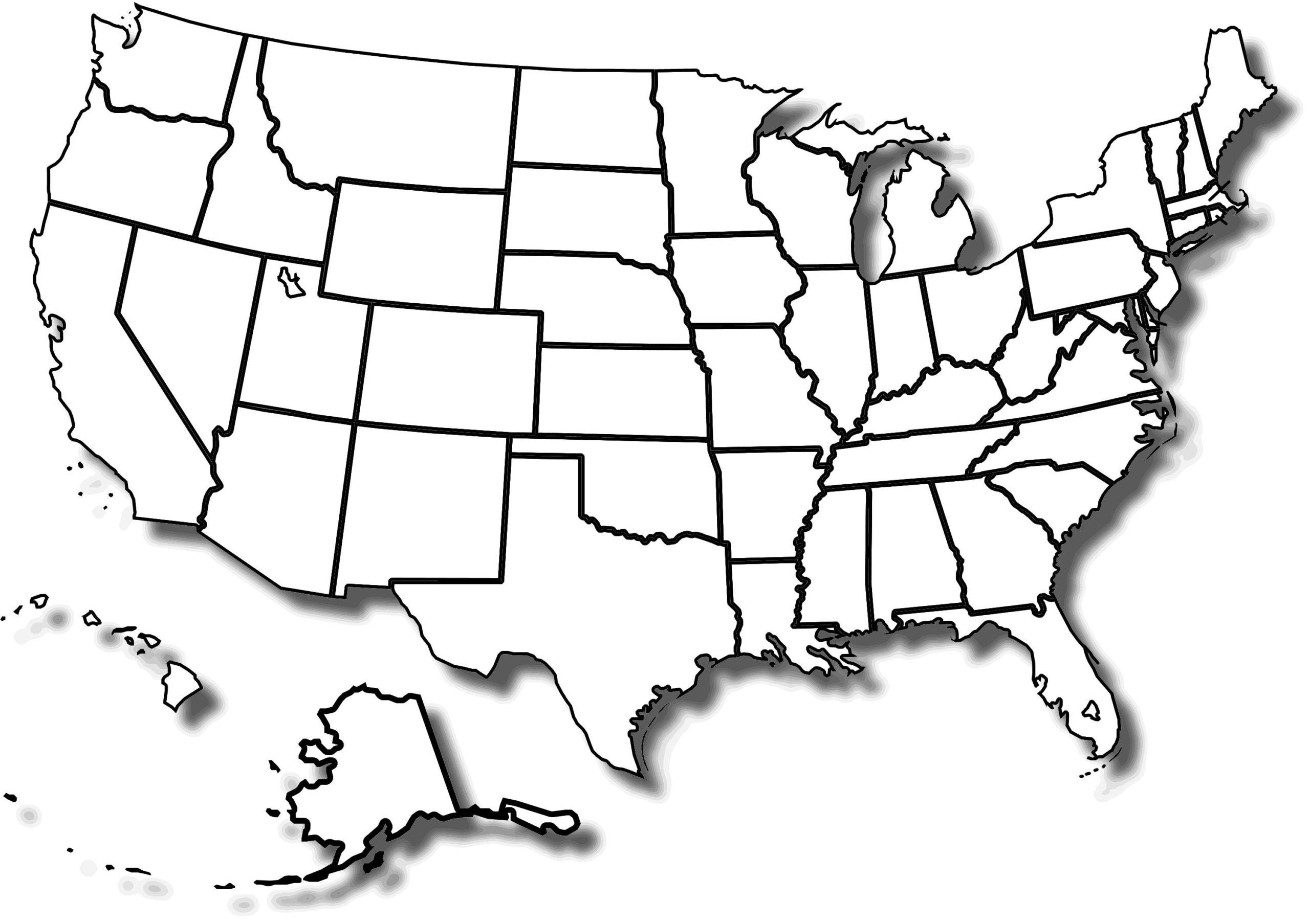 Free Printable Blank Us Map Worksheets 8 Letter Worksheets