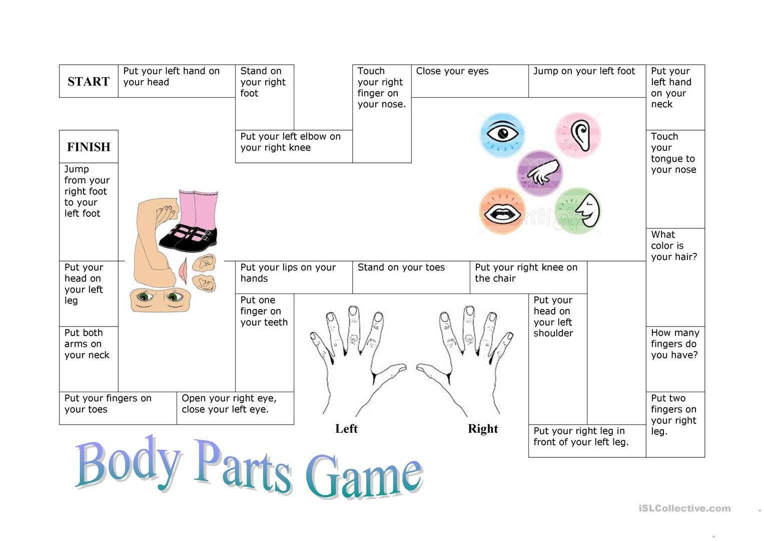 Esl Body Parts Activities Adults Letter Worksheets