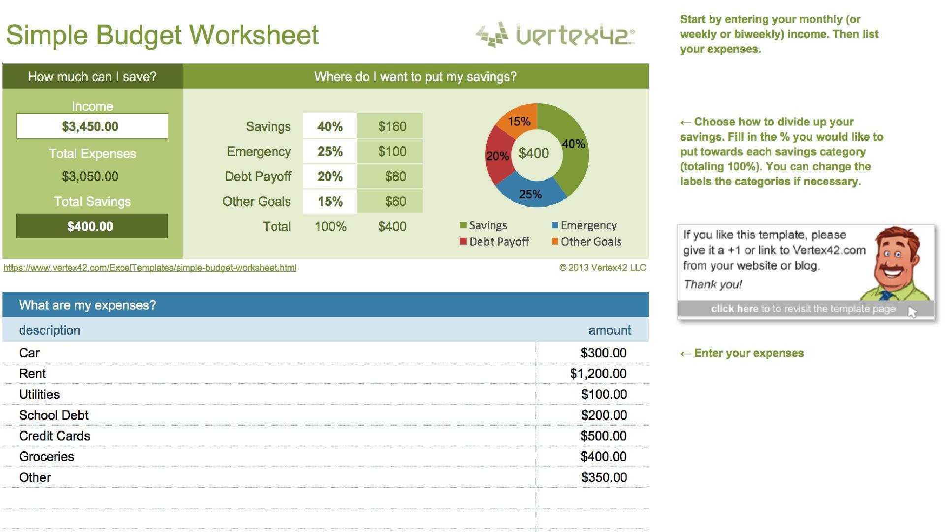 Printable Budget Worksheets Simple 7 Letter Worksheets
