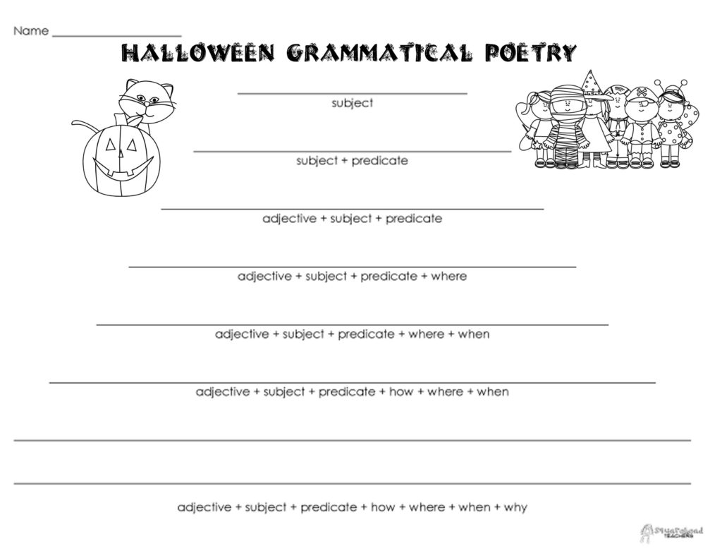 Printable Halloween Reading Comprehension Worksheets 3